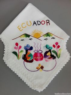 Tapete bordado a mano Ecuador Ecuador, Napkins, Handmade, Farmhouse Rugs, Handmade Crafts, Hand Embroidery, Hands, Hand Made, Towels