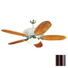 $597.60 Yosemite Home Decor 56-in Maui Breeze Brushed Steel Ceiling Fan with Light Kit and Remote