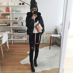 Ι ❤️ this black padded jacket by duvetica! Hope to find out where the heck i can buy it in the near future