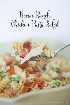 This pasta salad is good enough to make long past the end of picnic season.  Get the recipe at Yellow Bliss Road.   - CountryLiving.com