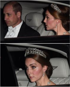 23 October 2018•The Duke and Duchess of Cambridge attend a State Banquet at Buckingham Palace in honour of King Willem-Alexander and Queen Maxima. Kate is wearing the Lovers Knot Tiara, Diana's Collingwood earrings and blue gown. I really hope that there will be better photos😍 📷: James Whatling Prince Harry Kate Middleton, Prince Harry And Kate, Prince William And Catherine, Duke And Duchess, Duchess Of Cambridge, Duchess Kate, Princess Kate, Princess Charlotte, Lovers Knot Tiara