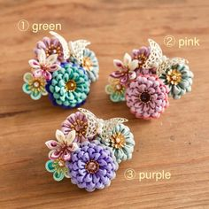 Flower Hair Clips, Flowers In Hair, Fabric Flowers, Kanzashi Flowers, Ribbon Art, Hair Pins, Diy And Crafts, Hair Accessories, Homemade