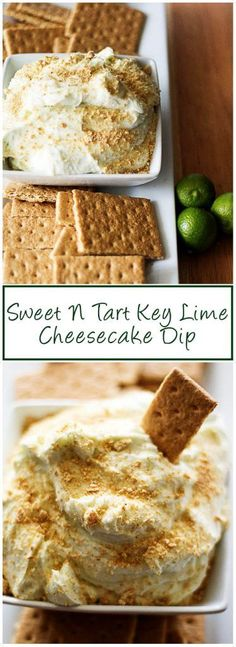 Our sweet n tart key lime cheesecake dip has fluffy whipped cream cheese infused with tangy key lime juice to make the ultimate dipping dessert. via @berlyskitchen