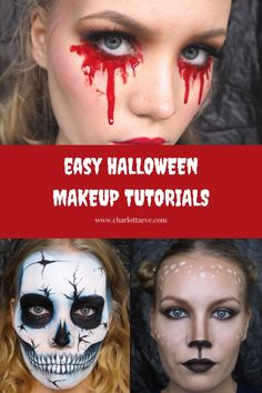 Check out my easy tutorials for Halloween! #halloweenmakeup #halloweenmakeupideas #easyhalloweenlook #easyhalloweenmakeup #halloweenmakeuptutorial #beautyblog #halloweenskullmakeup #halloweenbloodmakeup