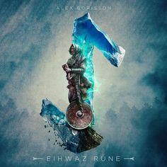 Eihwaz Rune by UI Viking (Alex Borisson)