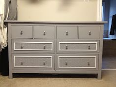 Makeover of the Ikea Hemnes dresser want to do this with ours for a guest bedroom! Maybe white and black?