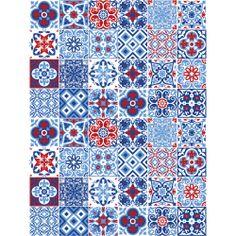 Adesivo de Parede Azulejos Biarritz Stixx Adesivos Criativos Colorido - (91,4x122cm) - Americanas.com