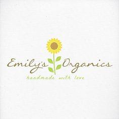 Logo Sunflower Logo Business Logo Floral Flower by LogoLove