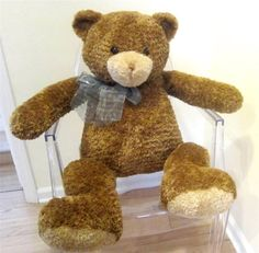 """Looking for a BIG Teddy bear to hug or display? #Gund Plush XL Dylan #TeddyBear measures a substantial 34"""" HUGE with the softest, cuddly plush to hug. Terrific on display in a nursery."""