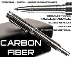 Business executive gift for a man CARBON FIBER pen by Trobee Pens, $139.99  This is a bad ass pen!
