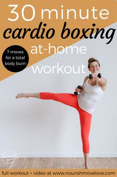 Cardio Barre Boxing Workout – full body workout under 30 minutes. Pair traditi… Cardio Barre Boxing Workout – full body workout under 30 minutes. Pair traditional barre/ballet movements and boxing cardio intervals with core movements. Upper body and lower Cardio Training, Mental Training, Strength Training, Training Plan, Shred Workout, Workout Bodyweight, Workout Fitness, Kickboxing Workout, Fitness Diet