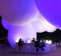 """BIG has revealed images of a huge """"bubble-like"""" inflatable pavilion it created for this year's edition of the annual music festival in Roskilde, Denmark Big Architects, Architectural Scale, Membrane Structure, Festival Image, Festival 2017, Big Bubbles, Big Design, Mall Design, Booth Design"""