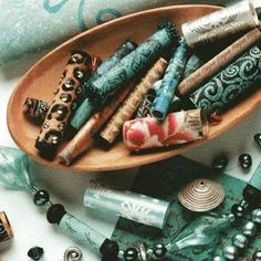 Looove this. Can't wait to try it! I have that same batik fabric in my stash. How to make fabric beads