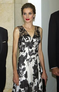Spanish Queen Letizia attends a dinner in honour of the 'Mariano de Cavia', 'Luca de Tena' and 'Mingote' awards winners at Casa de ABC on 03.10.2014 in Madrid, Spain.