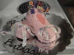 Taylor 10th ballet slipper birthday cake