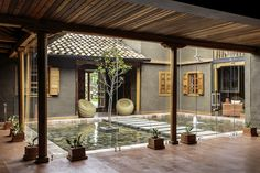 A courtyard is a part of the house that can bring you a relaxing spot if you decorate it well. You can design it into a captivating one. The courtyard house design is simple to do.