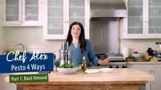 Chef Alex Guarnaschelli shows just how easy it is to make your own homemade pesto with only a few ingredients! This time around, she's making this unique, seasonal Pecan Scallion Pesto. Chef Alex recommends using it as a topping on grilled steak or pork c Pasta Recipes Vegetarian Indian, Healthy Vegetable Pasta Recipes, Easy Healthy Pasta Recipes, Healthy Italian Recipes, Italian Pasta Recipes, Easy Appetizer Recipes, Meat Appetizers, Healthy Pastas, Easy Recipes