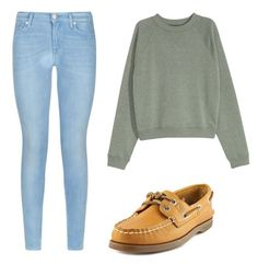 """""""Untitled #25"""" by gigiking on Polyvore featuring 7 For All Mankind and Sperry"""