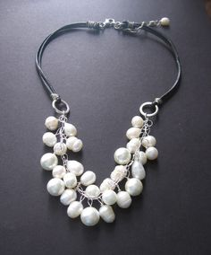 Blizzard+Pearl+Necklace++Pearl+Sterling+by+SimpleElementsDesign,+$55.00