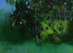 Hurvin Anderson, Maracus Series – Eccentricity, 2010. Oil on canvas,19 3/4 x 25 1/4 inches. Collection of Gordon VeneKlasen, New York.