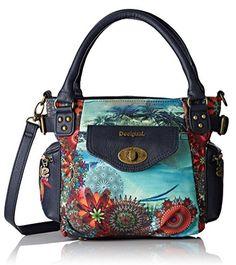 #Desigual Tasche - Modell Kotao Mini. Muster: floral, exotisch und Mandala, schwarz.