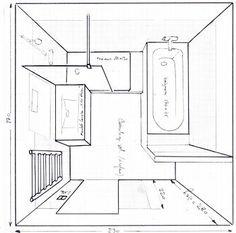"""Résultat de recherche d'images pour """"salle de bain de 6m2 baignoire douche wc"""""""