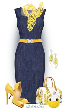 A fashion look from April 2016 featuring Phase Eight dresses, Christian Louboutin pumps and Isabel Marant bracelets. Browse and shop related looks. Mode Outfits, Fashion Outfits, Womens Fashion, Fashion Trends, Fashion Ideas, School Outfits, Trending Fashion, Modest Fashion, 90s Fashion
