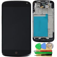 44.98$  Buy here - http://alip05.worldwells.pw/go.php?t=2024530123 - 100% Guarantee New Black for LG Google Nexus 4 E960 Touch Screen Digitizer LCD Display Full Frame Assembly+Tools 44.98$
