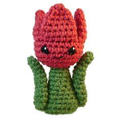 Free Crochet Tulip Amigurumi Pattern by Lisa Eberhart