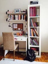 23 Trendy home office apartment organization ideas Home Room Design, Home Office Design, Home Office Decor, Home Decor, Study Room Decor, Cute Room Decor, Study Rooms, Bedroom Study Area, Bedroom Desk