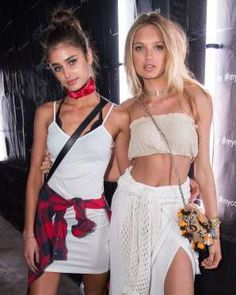 Romee Strijd and Taylor Hill attend Calvin Klein's In the Desert party in Palm Springs, California o... - Rob Latour/REX/Shutterstock/Rex USA