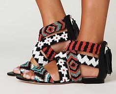 Beaded shoes - Google Search