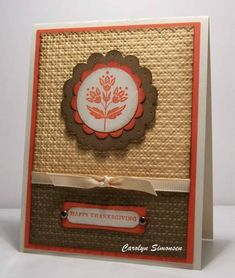 CC343 Thanksgiving by snowmanqueen - Cards and Paper Crafts at Splitcoaststampers