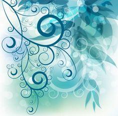 abstrata redemoinho floral fundo gráfico vetorial