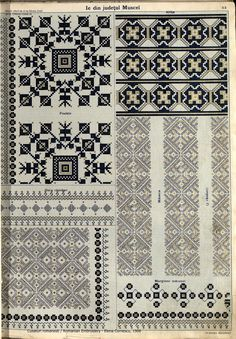 Folk Embroidery, Embroidery Patterns, Cross Stitch Patterns, Crotchet Patterns, Fabric Patterns, Filet Crochet, Cross Stitching, Tandem, Hama Beads