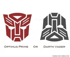 neither. The first one is obviously the autobot symbol the second is just a black one turned up side down....HA!!!