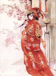 海棠花  Malus spectabilis     (Asiatic apple / Hǎitáng Huā; symbolize parting and nostalgia for lover or home)