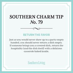 Tip #79: Return the favor < Secrets to Southern Charm - Southern Living Mobile