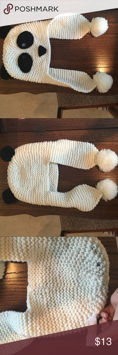Panda winter hat!! Gently worn panda winter hat. Bought from JCPennys. It is very warm and soft. Just not my style anymore. In great condition with zero stains! (The buttons came two separate colors). Open to offers Accessories Hats