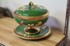 bohemian tureen | Treasury Antique Covered Tureen Casserole by TreasuresFromUs,