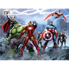 Fotomurales Infantiles Marvel Comics, Avengers