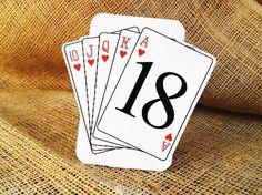 SET OF 10 Vegas Poker Table Number Cards  by WoodlarkDesigns, $15.00