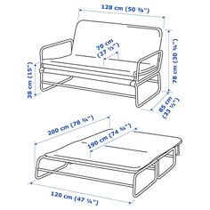This sofa quickly and easily transforms into a spacious bed for two. A tense fabric makes it nice to sit and sleep on, and its lightweight - perfect when cleaning or rearranging furniture. Sleeper Sofa, Sofa Bed, Ikea Co, Cama Ikea, Built In Sofa, Rearranging Furniture, Convertible, Mousse Polyuréthane, Black