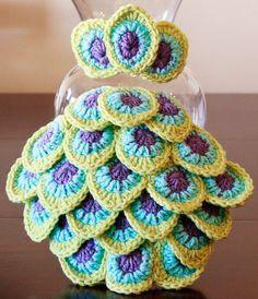 Crochet Peacock Headband and Feather Tail Cape Set - Etsy $35.00