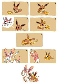 Eevee wants to be a Sylveon when it grows up!