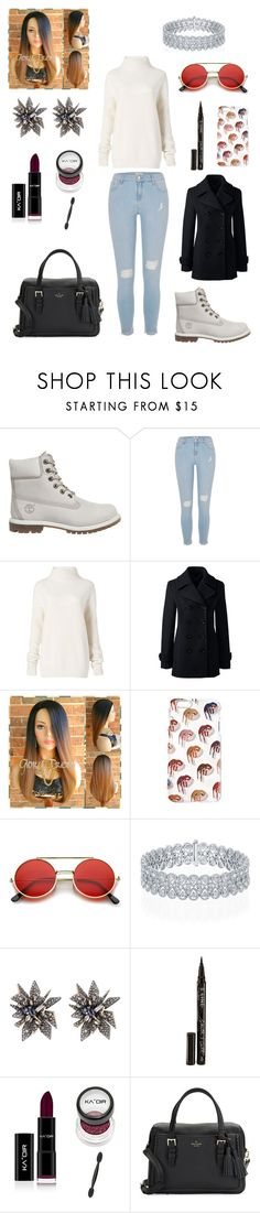 """""""Sans titre #2218"""" by amandine-collet ❤ liked on Polyvore featuring Timberland, River Island, Diane Von Furstenberg, Lands' End, ZeroUV, Alexis Bittar, Smith & Cult and Kate Spade"""
