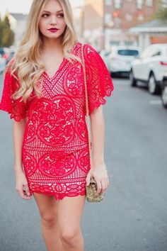 Scarlet Crochet Lace Dress