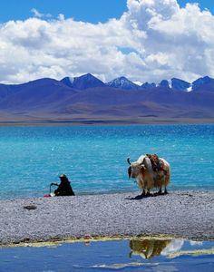 Blue lake, Tibet #travel #WindhorseTour