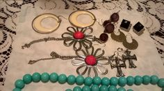 Costume Jewelry Mixed Vintage Earrings Necklace