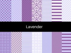 Purple Lavender Digital Paper